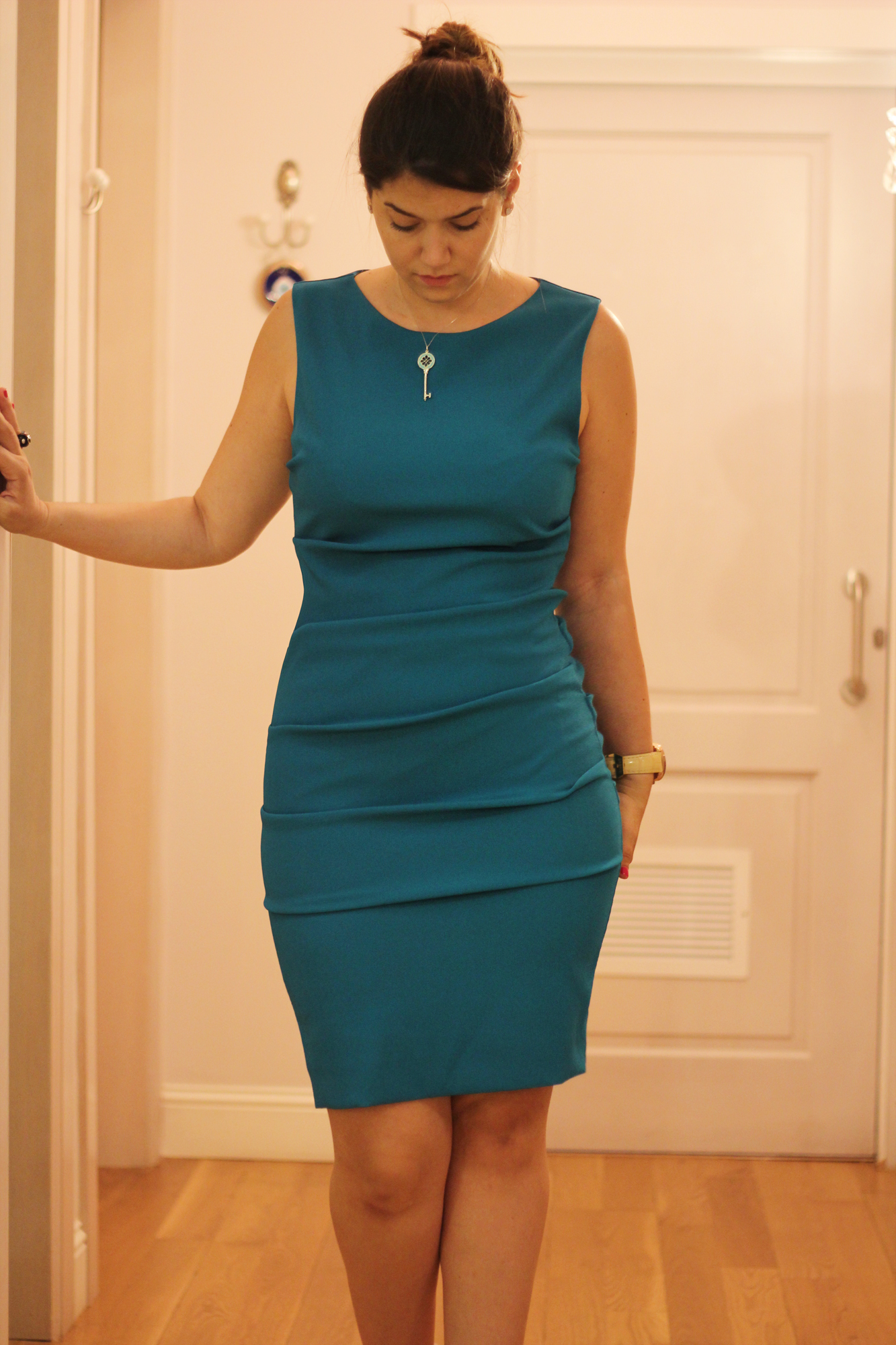 Zapatos para vestido azul aqua